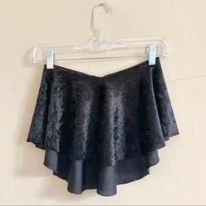 Jet black ballet skirt